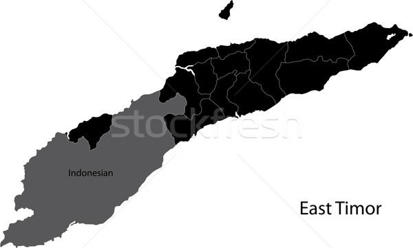 Black East Timor map Stock photo © Volina