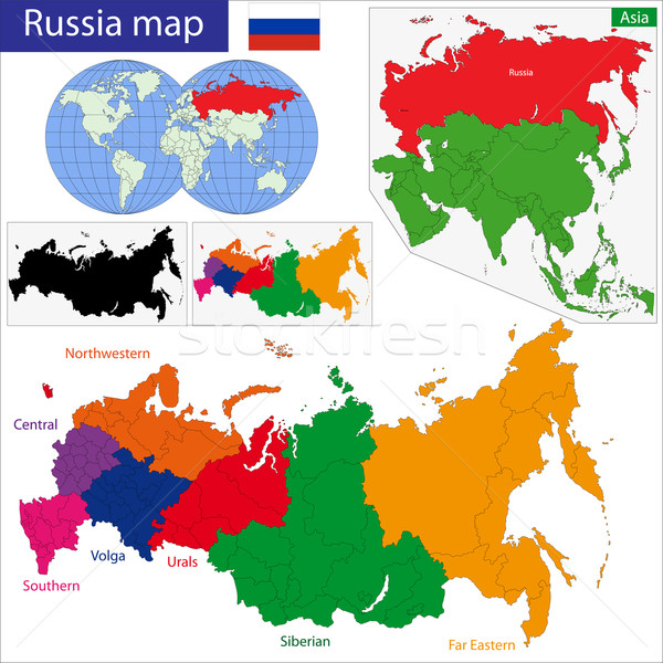 Stock photo: Russia map