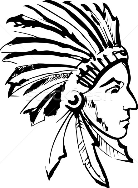 Indian chief Stock photo © Volina