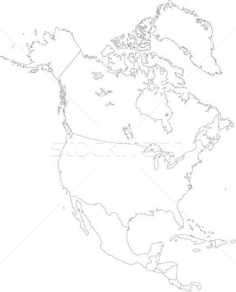 север Америки карта стране Сток-фото © Volina