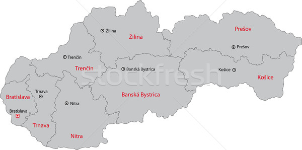 Grey Slovakia map Stock photo © Volina