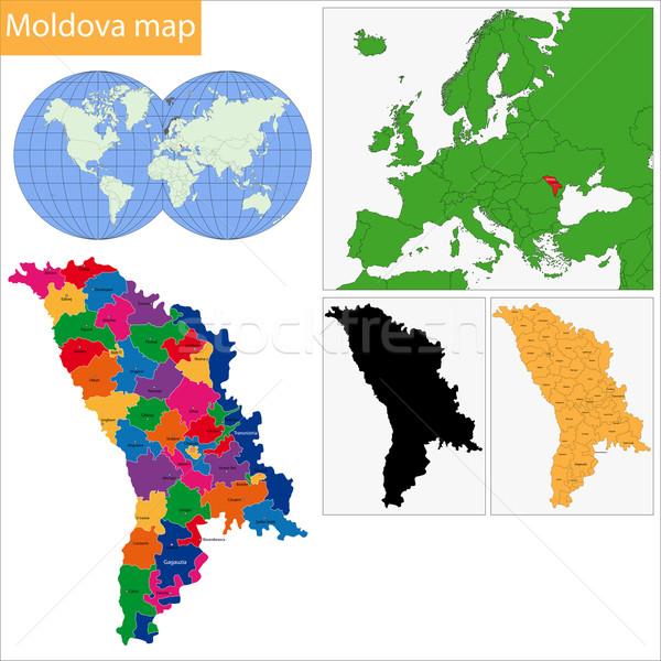 Moldova map Stock photo © Volina