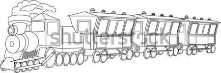 локомотив Vintage стиль иллюстрация ретро путешествия Сток-фото © Volina
