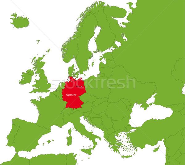 Германия карта расположение фон путешествия Европа Сток-фото © Volina