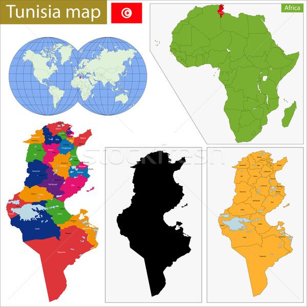 Tunisia map Stock photo © Volina