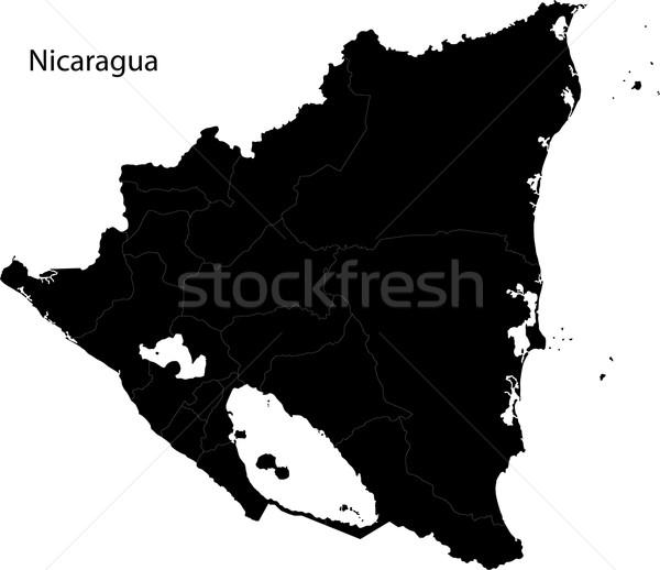 Preto Nicarágua mapa departamento cidade Foto stock © Volina