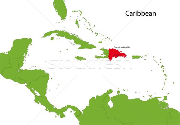 商业照片: 多米尼加共和国 · 地图 · 位置 · 加勒比的 · 设计图片