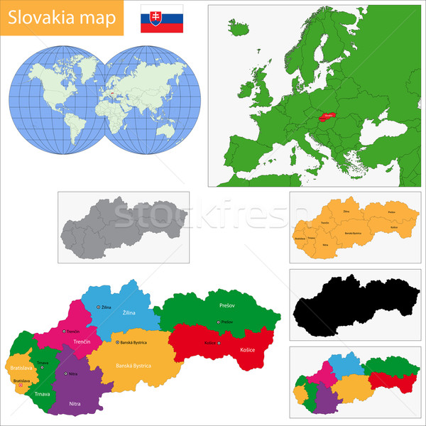 Slovakia map Stock photo © Volina