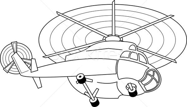 Battant hélicoptère illustration isolé blanche technologie Photo stock © Volina