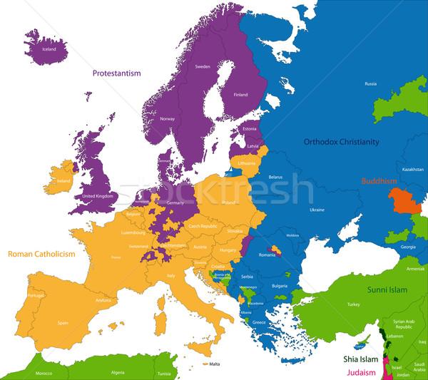 Predominant religious in Europe Stock photo © Volina