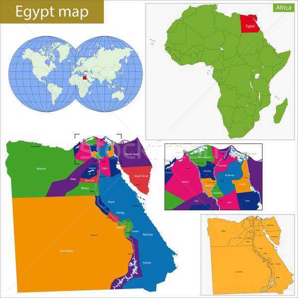 Egypt map Stock photo © Volina