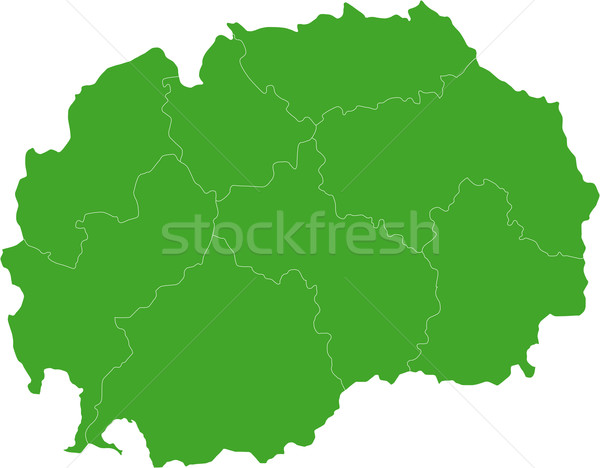 Green Macedonia map Stock photo © Volina
