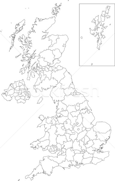 Outline United Kingdom map Stock photo © Volina