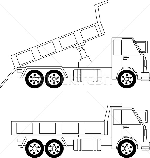 Dump truck Stock photo © Volina