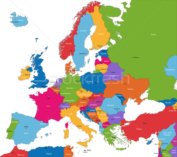 Europe map Stock photo © Volina