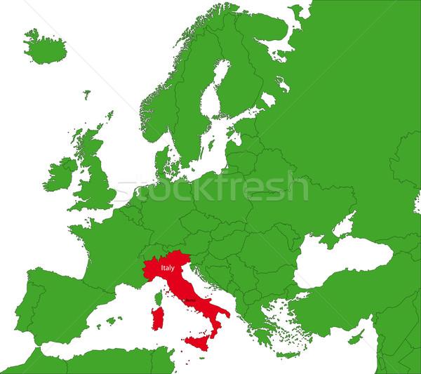 Italy map Stock photo © Volina
