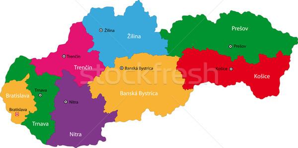 Slovakia map Stock photo © Volina