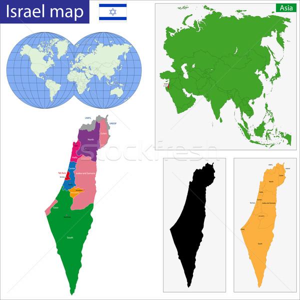 Israel map Stock photo © Volina