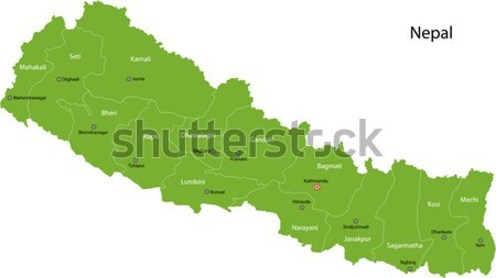 Green Nepal map Stock photo © Volina