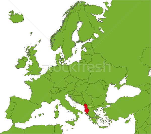 Albania map Stock photo © Volina