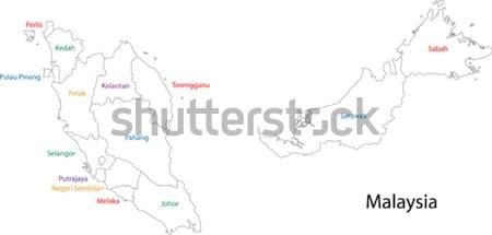 Skicc Belize térkép vidék rajz illusztráció Stock fotó © Volina