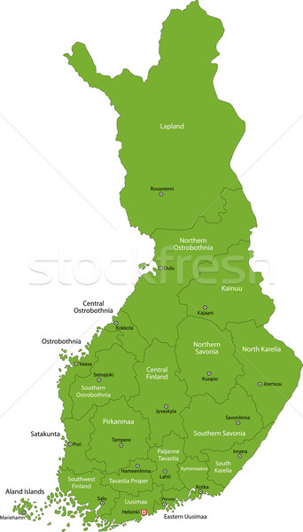 Green Finland map Stock photo © Volina