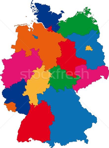 Germany map Stock photo © Volina