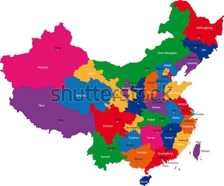Map of China Stock photo © Volina