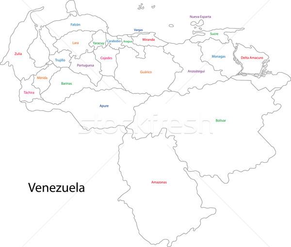 Contour Venezuela map Stock photo © Volina