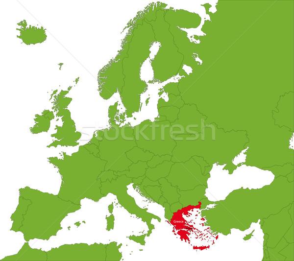 Grecja Pokaż lokalizacja tle sylwetka kraju Zdjęcia stock © Volina