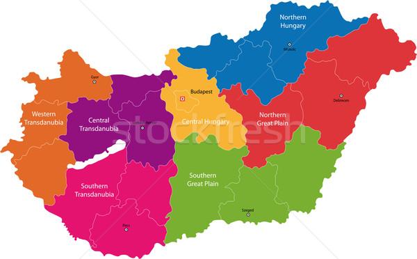 Hungary map Stock photo © Volina