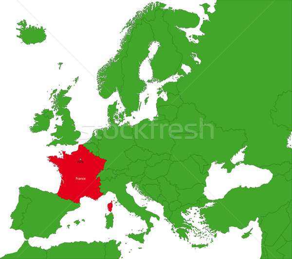 France map Stock photo © Volina