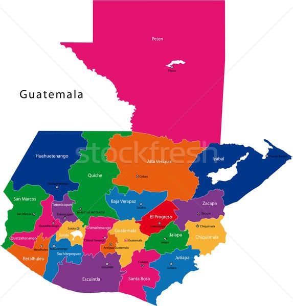 Guatemala mapa república cidade cor traçar Foto stock © Volina