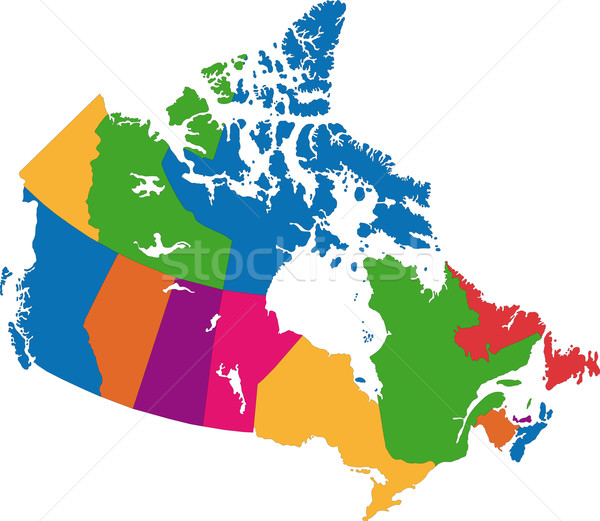 Stock photo: Canada map