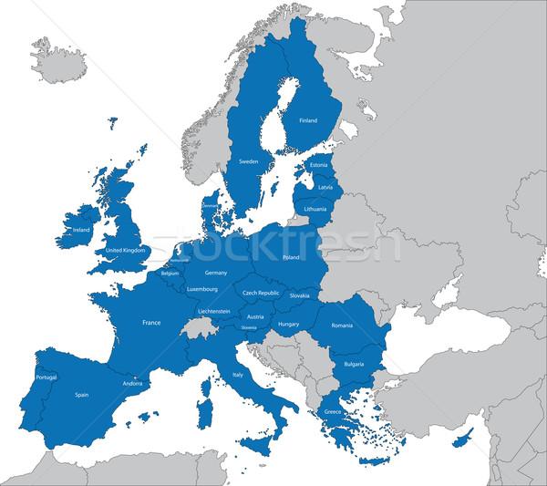 европейский Союза карта член фон границе Сток-фото © Volina