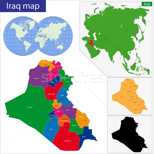 Iraq map Stock photo © Volina
