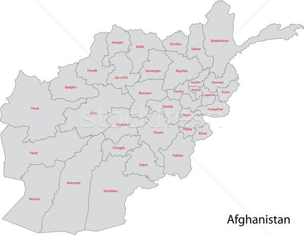 商业照片: 灰色 · 阿富汗 · 地图 · 行政 · 城市 · 侧影