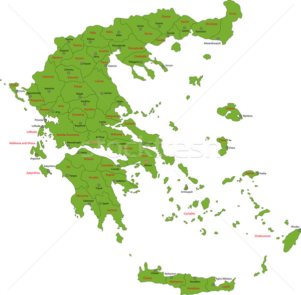 Green Greece map Stock photo © Volina