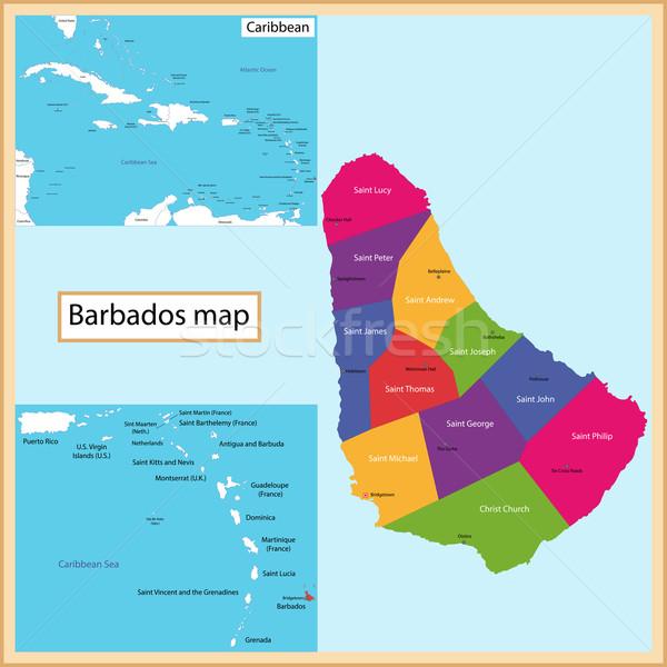 Barbados mapa alto pormenor precisão Foto stock © Volina