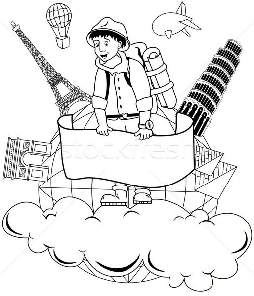путешествия Мир иллюстрация планирования вокруг человека Сток-фото © Volina