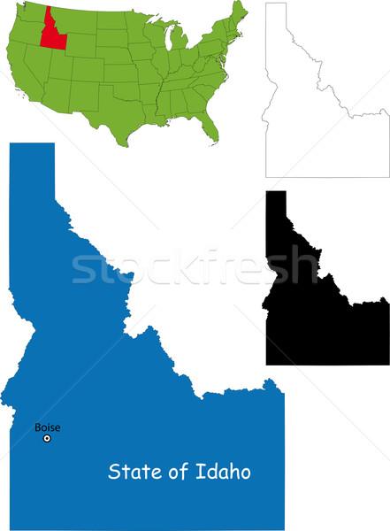 Idaho harita örnek ABD renk sınır Stok fotoğraf © Volina