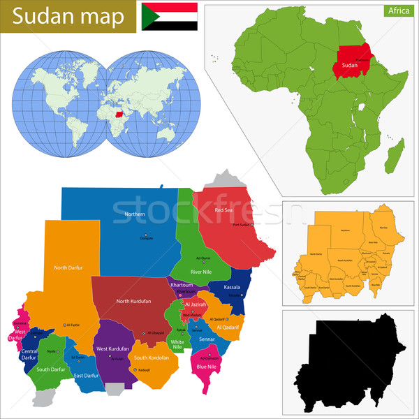 Sudan map Stock photo © Volina