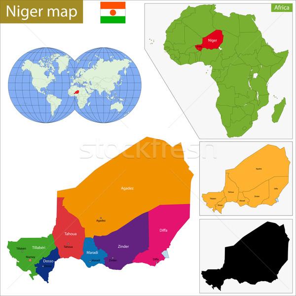 Нигер карта административный республика африканских подробность Сток-фото © Volina