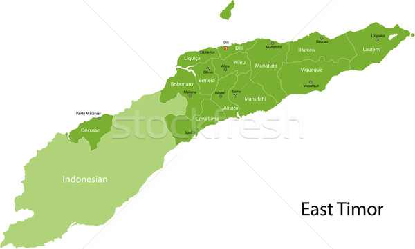 Green East Timor map Stock photo © Volina