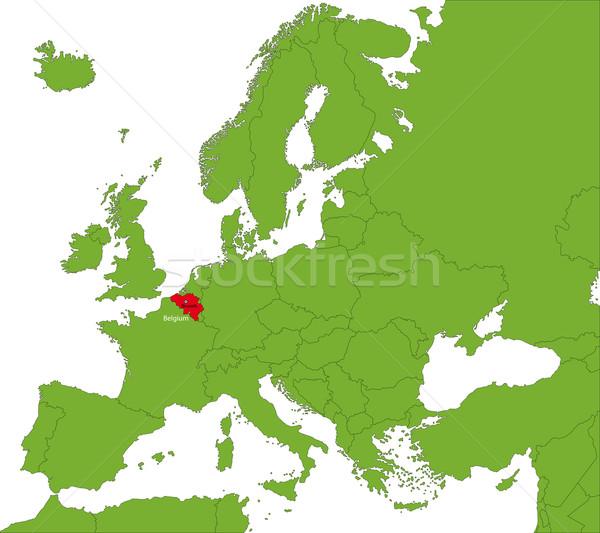 Bélgica mapa ubicación ciudad país corte Foto stock © Volina