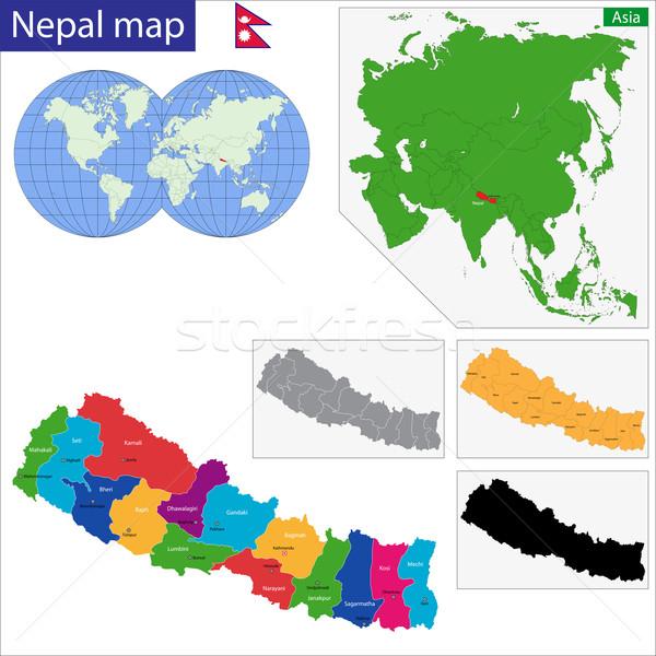 Republic of Nepal Stock photo © Volina
