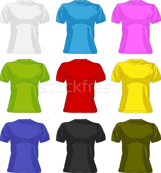 Conjunto colorido feminino mulher corpo silhueta Foto stock © Volina