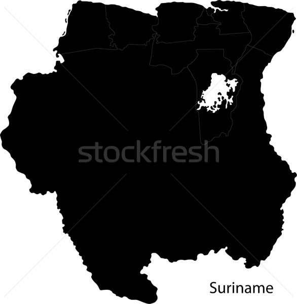 Preto Suriname mapa cidade projeto branco Foto stock © Volina