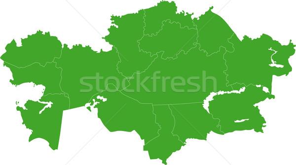 Green Kazakhstan map Stock photo © Volina