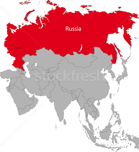 Russia map Stock photo © Volina
